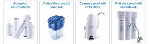 Aquaphor víztisztítók - kancsó, csapra köthető és pult alatti változatok